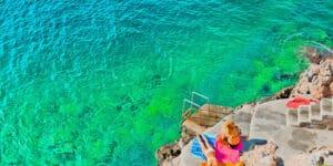 Badeferie på Rhodos i Grækenland