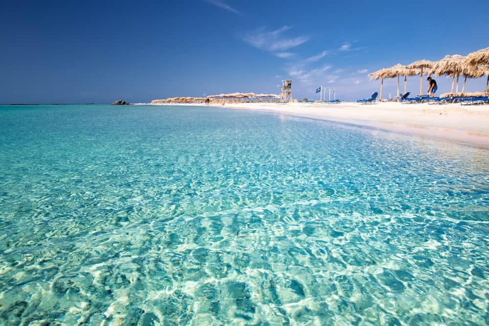 Elafonissi stranden - Kreta i Grækenland