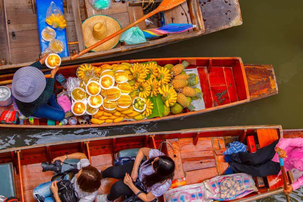 Flydende marked - Bangkok i Thailand
