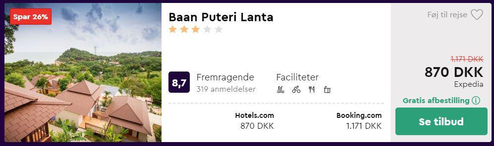Hotel på Koh Lanta i Krabi - Thailand