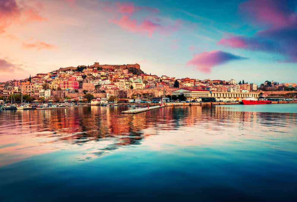 Sommer i Kavala i Grækenland