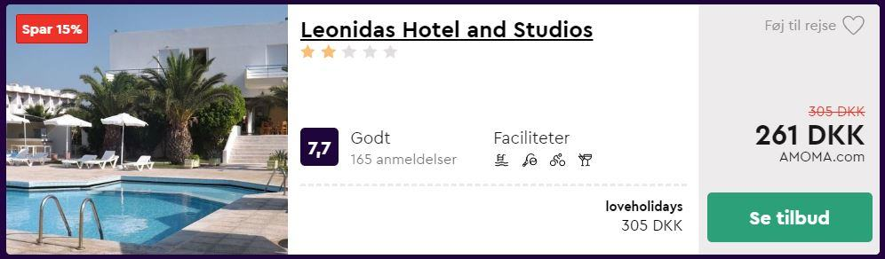 Leonida Hotel and Studios - Kos i Grækenland