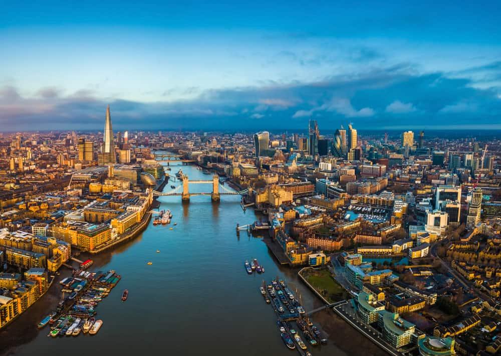 Panoramabilleder over London i England