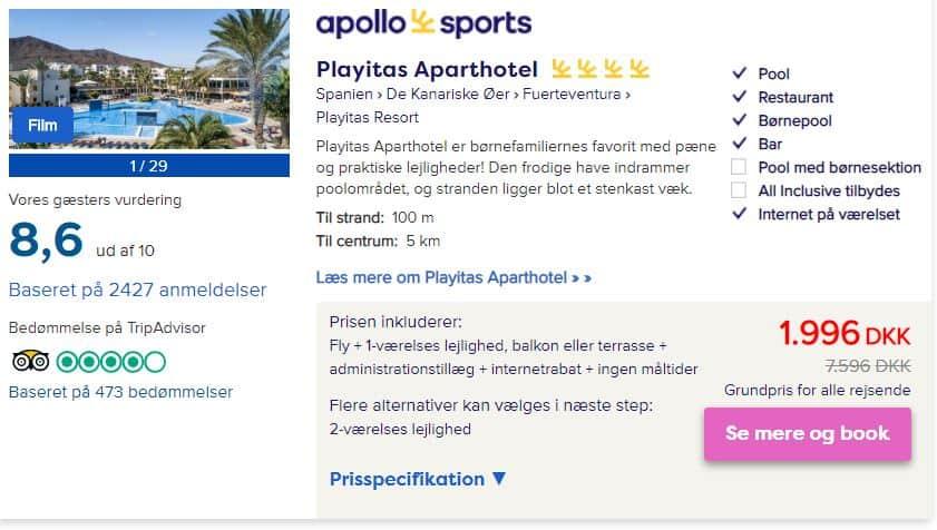 Playitas Aparthotel - Fuerteventura i Spanien