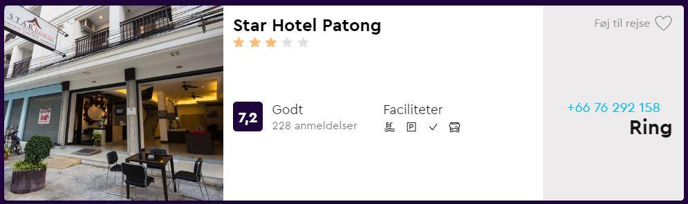 Star Hotel Patong - Phuket i Thailand