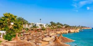 Badestrand i Sharm El-Sheikh i Egypten