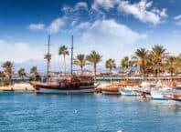 Havnen i Side - Tyrkiet