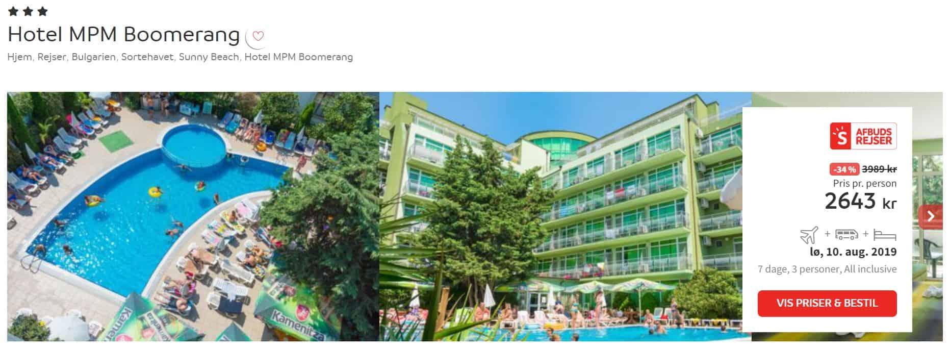 Hotel MPM Boomerang - Sunny Beach i Bulgarien