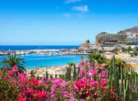 Strand i Puerto Rico - Gran Canaria i Spanien