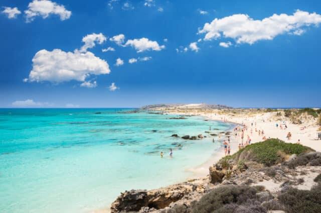 Elafonissi Lagoon - Krete i Grækenland