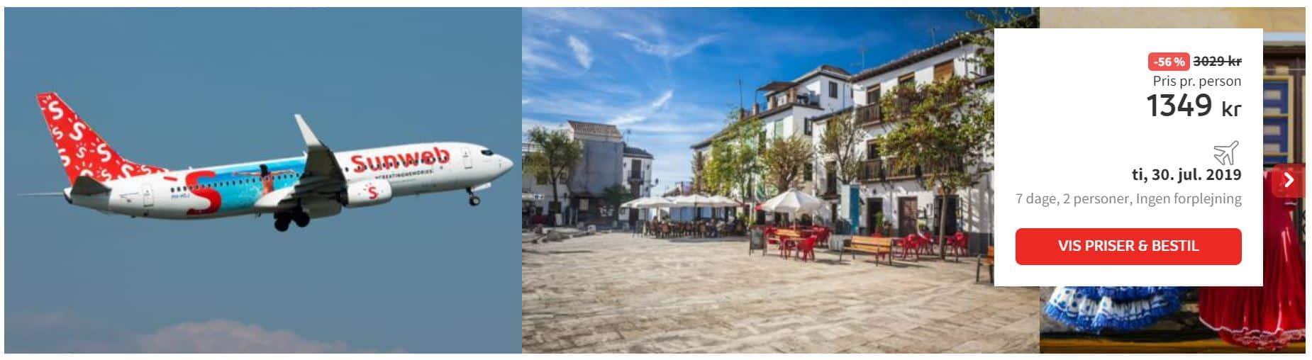 Flybilletter til Malaga i Spanien