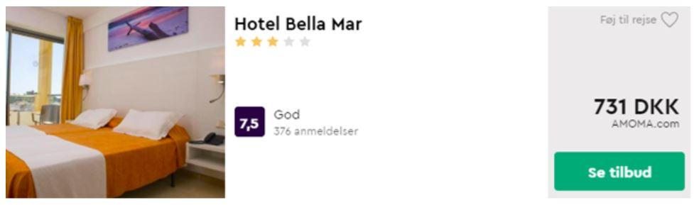 Hotel Bella Mar - Mallorca i Spanien