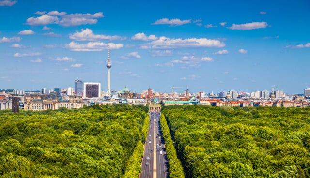Panorama over Tiergarten i Berlin - Tyskland
