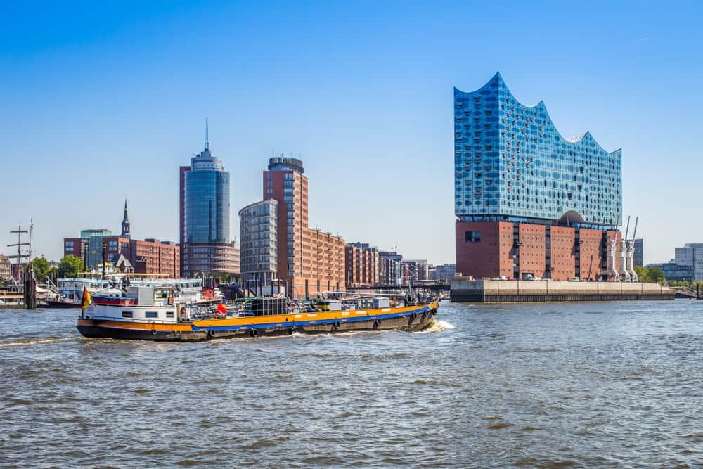 Havnen i Hamborg - Tyskland