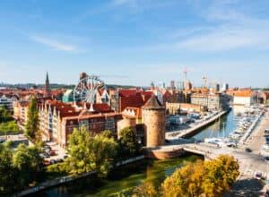 Panoramabillede over Gdansk i Polen
